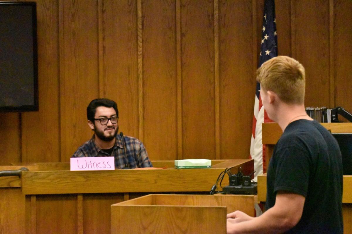 Mock trial testifying