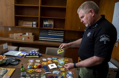 Law enforcement patches and coins