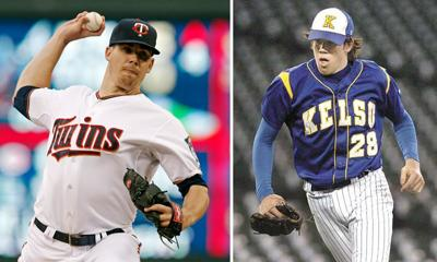 Kelso's Trevor May, then and now