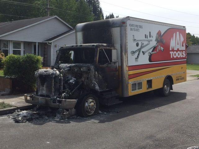 Tool truck fire