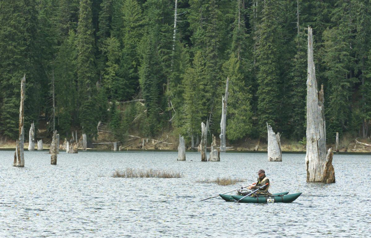 Goose Lake Wa Road to trout-stocked ...