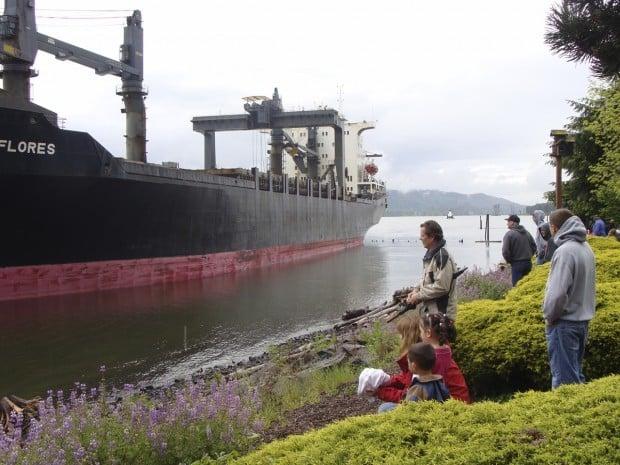 Kalama ship aground