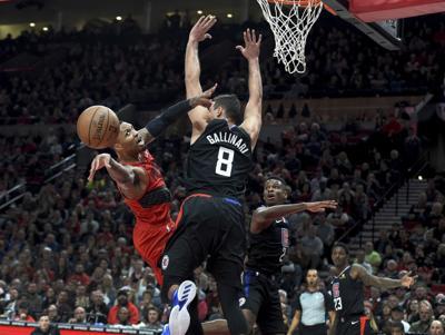 APTOPIX Clippers Trail Blazers Basketball