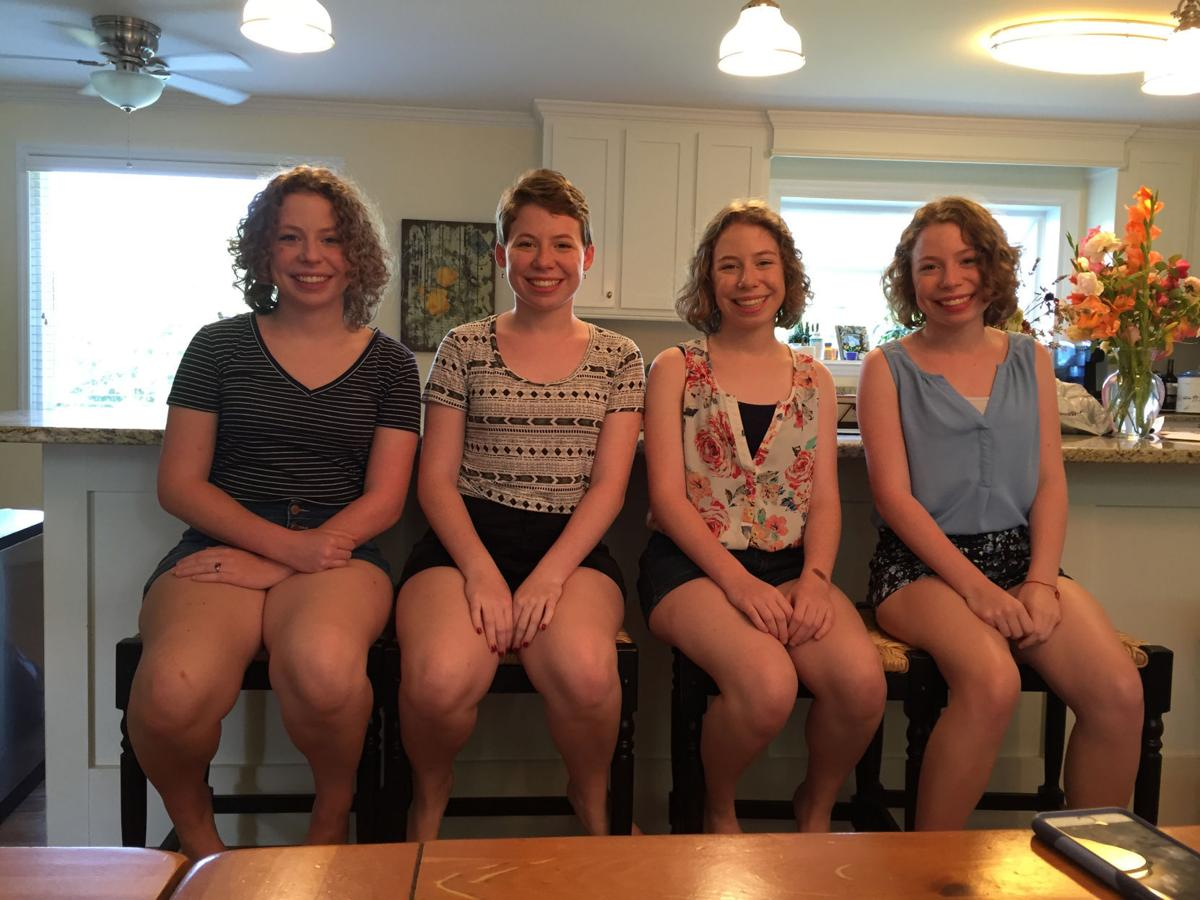 The Mathias Quadruplets Grace From Left Emily Anna And Mary Claire Turned 16 This Year