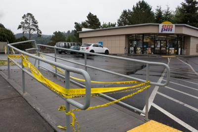 Crime scene tape at Kelso AM/PM