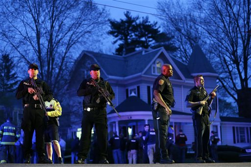APTOPIX Police Converge Mass