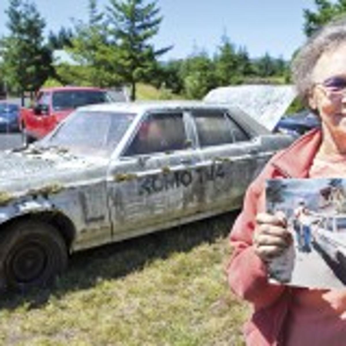 Car made famous during 1980 eruption arrives at Hoffstadt Bluffs