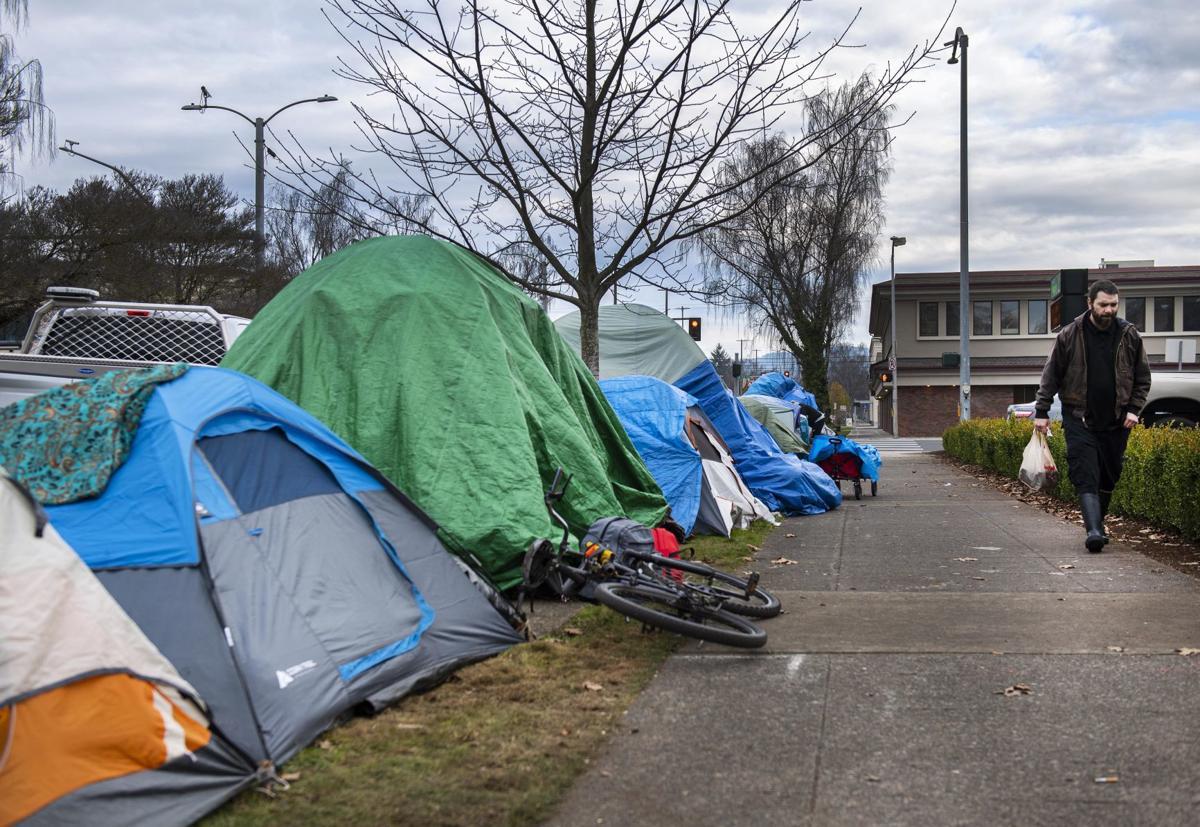 Camping along Broadway