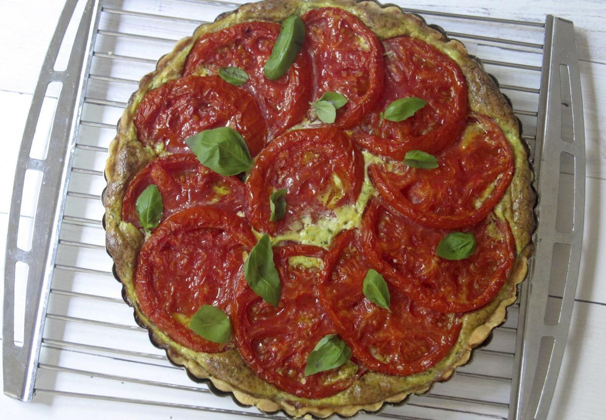 Tomato basil tart