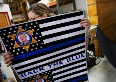 """Copies Today prints """"Back the Blue"""" stickers"""