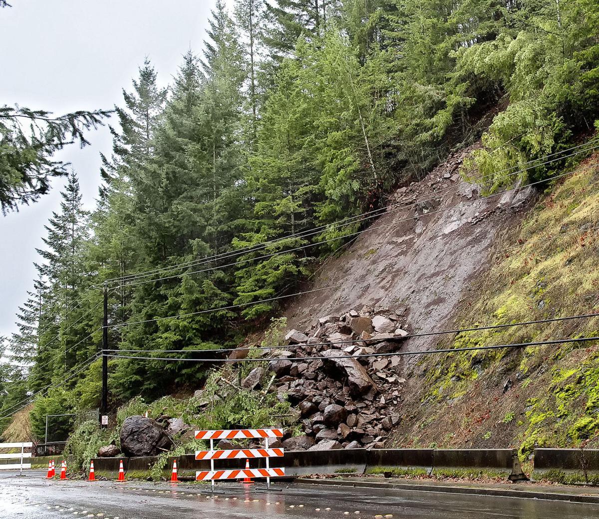 38th Street rockslide