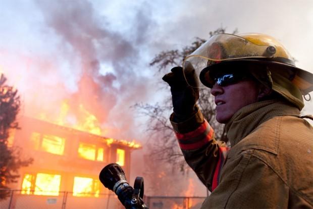 Second Maple Terrace burn