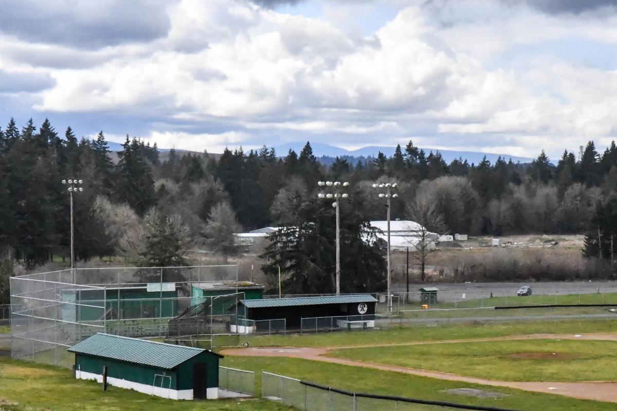 Empty Rainier field stock