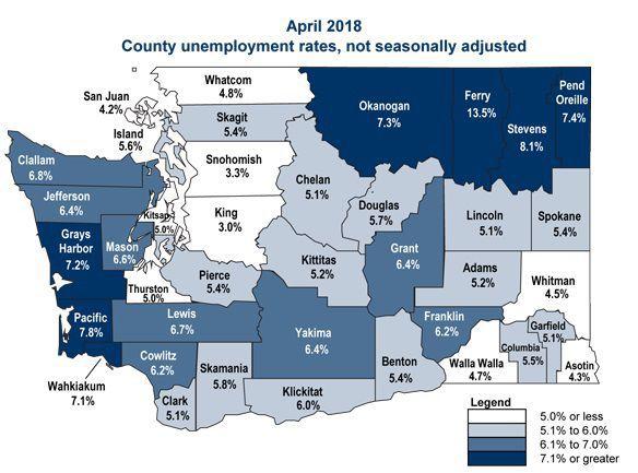 April 2018 unemployment rates