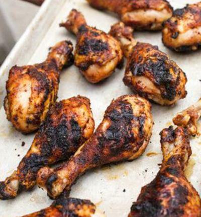 Tender chicken drumsticks