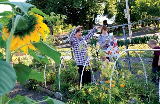 Growing Minds: School and health leaders gather in the garden to ...