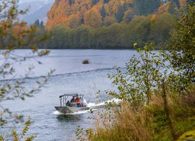 Surveying the Cowlitz River