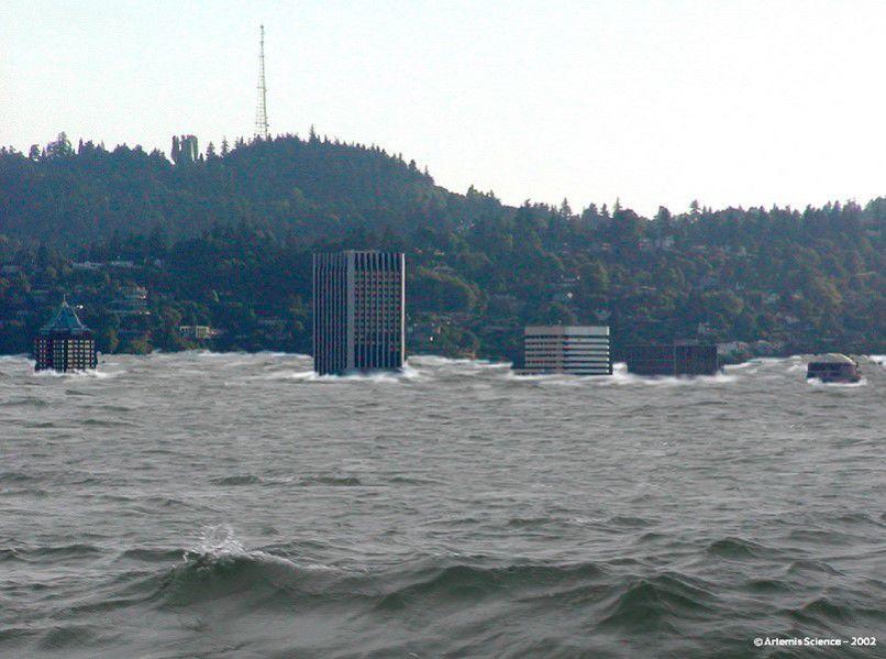 Model of Missoula Floods over Portland