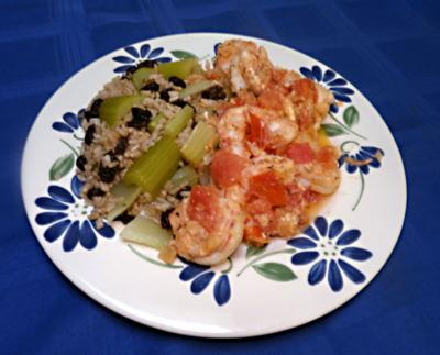 Greek-style shrimp