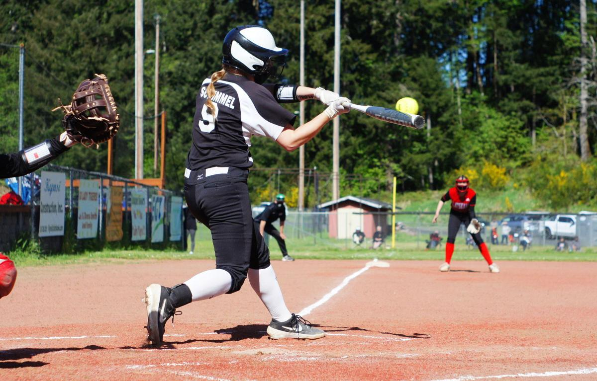 Reese Schimmel hits Rainier softball