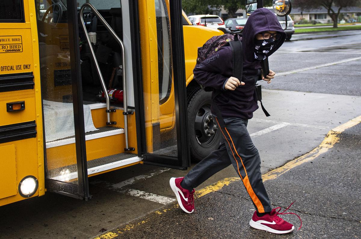 Walking off the bus