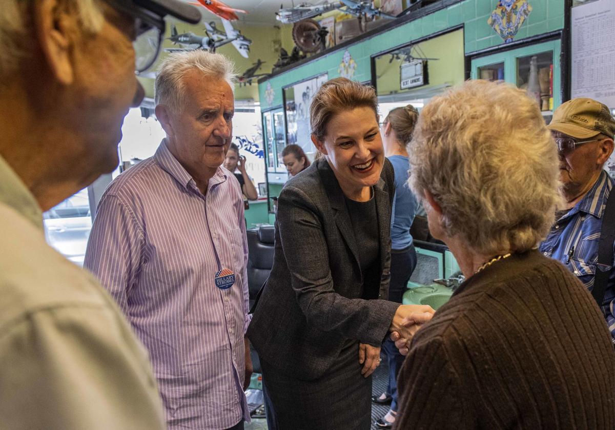 Carolyn Long meets local democrats