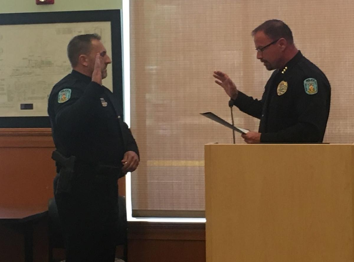 Captain Rich Fletcher sworn in