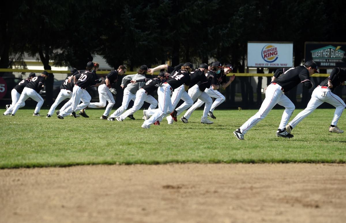R.A. Long baseball players run