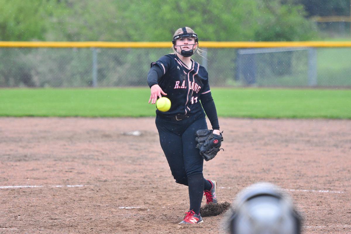 Miranda Bergquist pitches R.A. Long softball