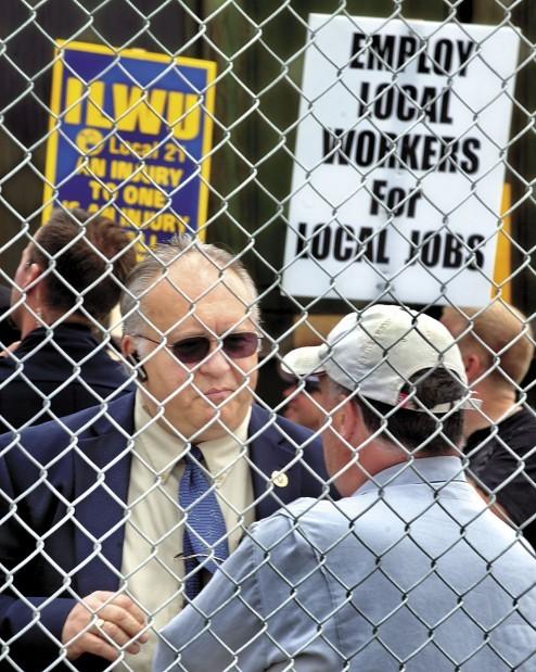 Port of Longview Union Protest