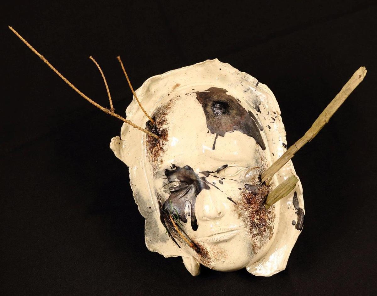"Cheyenne Sarmiento, Grade 12 Mark Morris, ""Aware"" Ceramic"