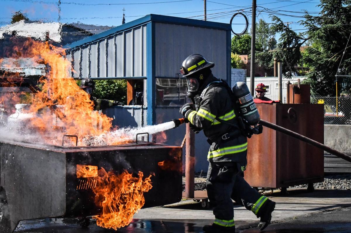 Training car fire