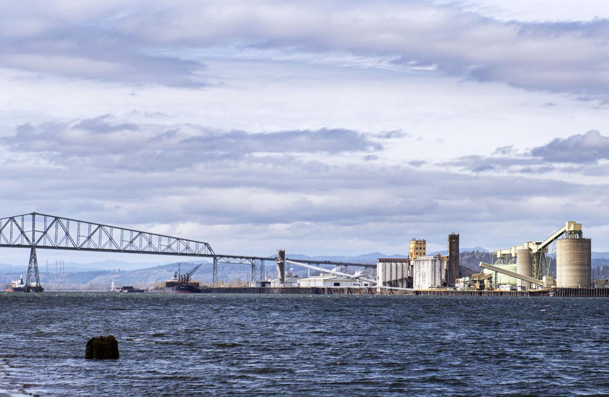Port of Longview across the river