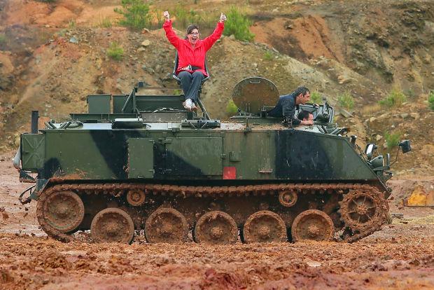 Family fun: Drive a tank, crush a car