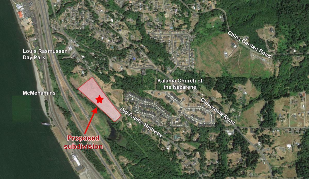 Kalama subdivision map