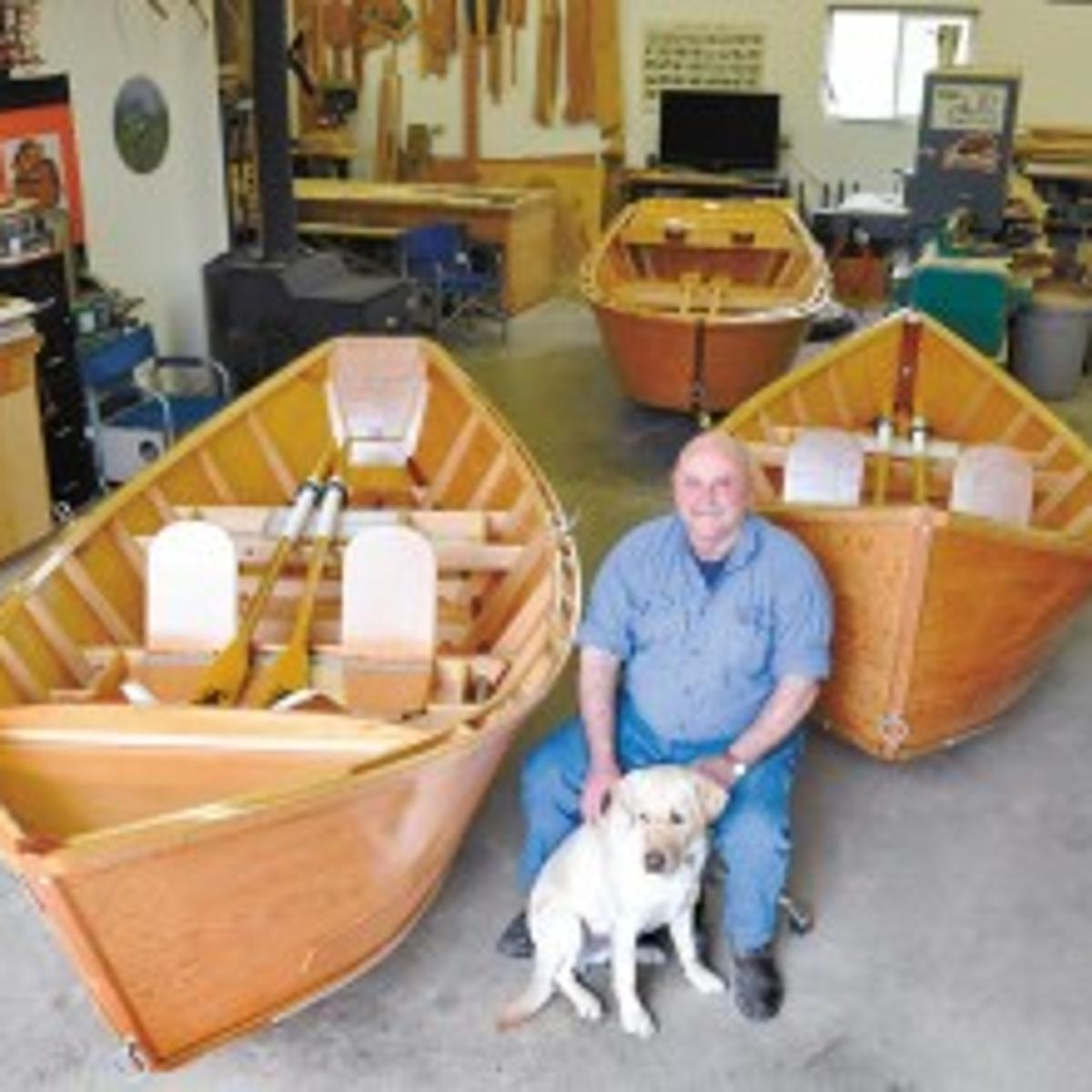 Steele again building traditional wooden river boats his father made