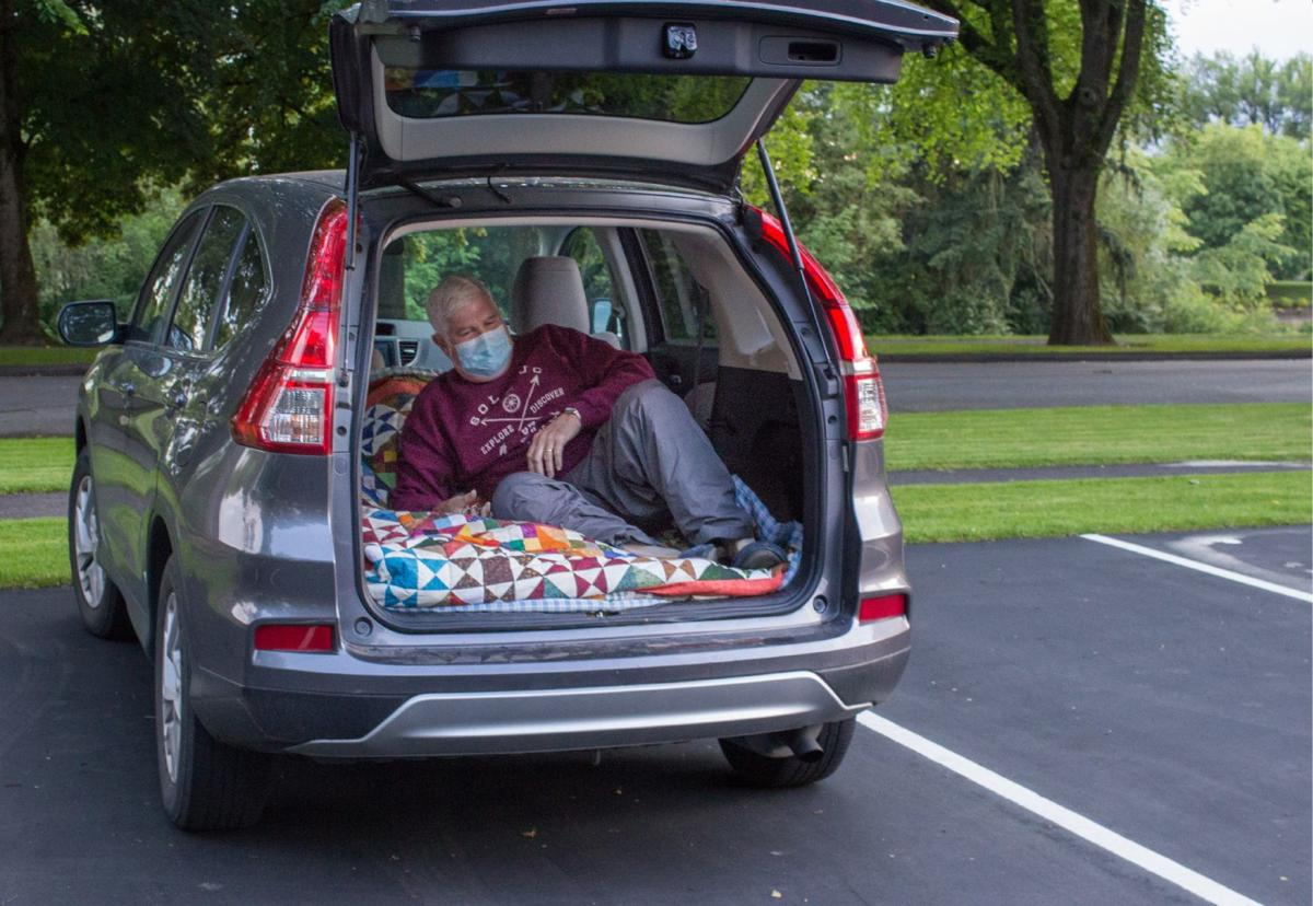 Dave Martin tests his SUV bed