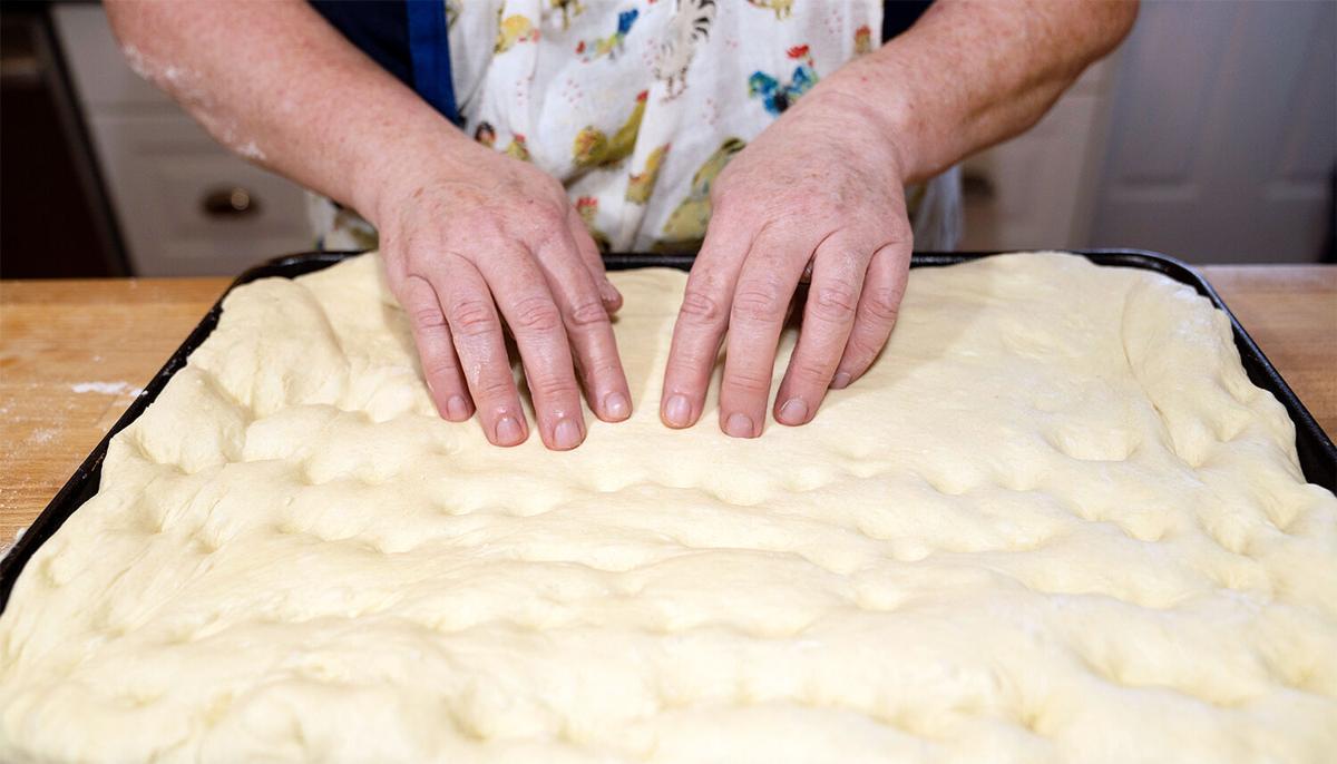 Focaccia making