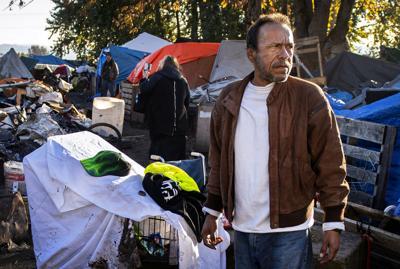 David Kelly at the Alabama Street camp