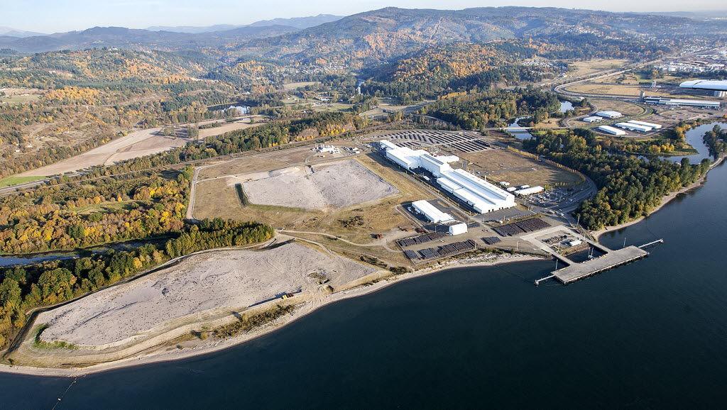 Proposed methanol plant site