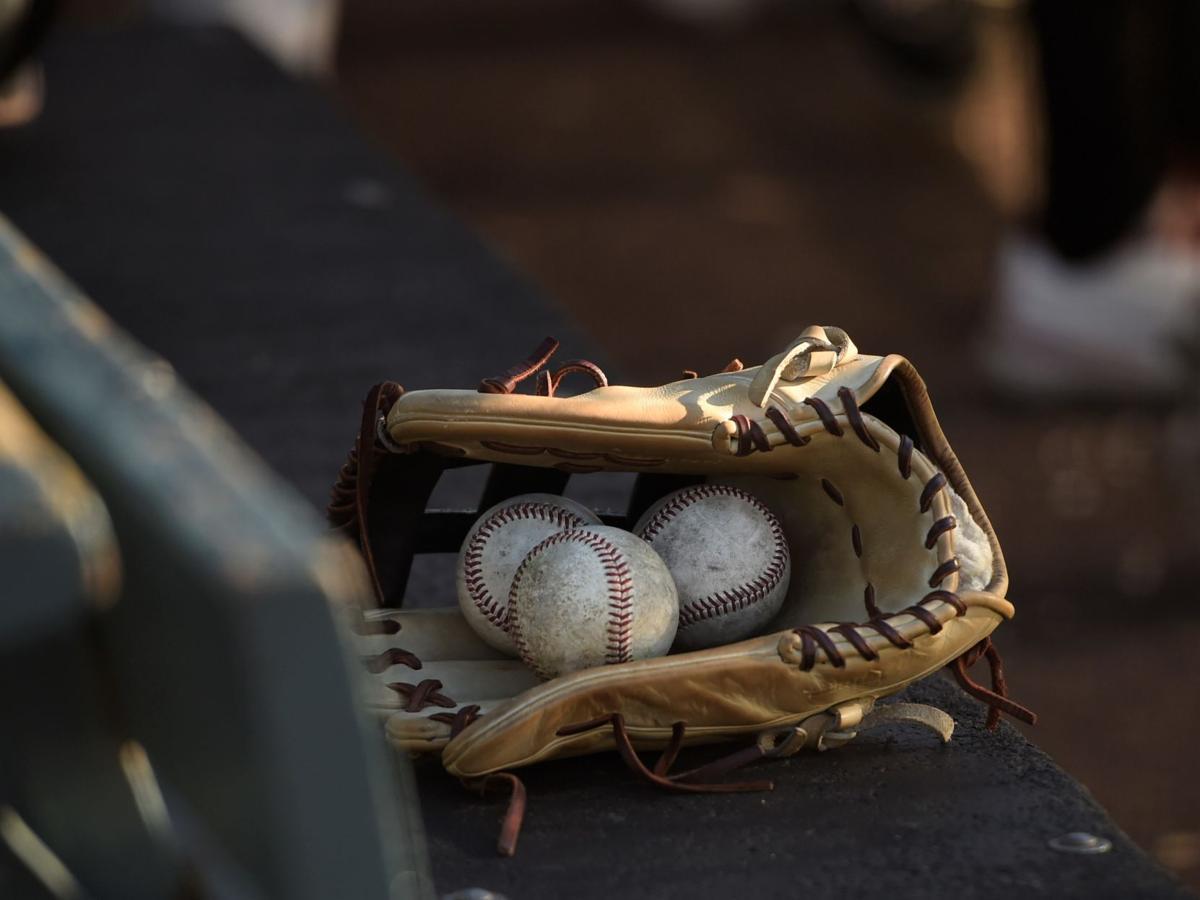 Baseball glove stock