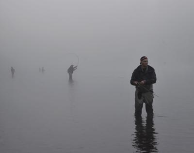 Anglers in the midst