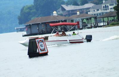 Volunteers stress safety on the water