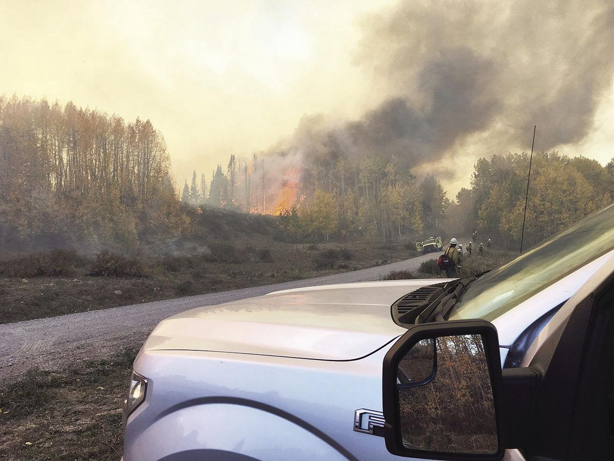 bull draw fire 95 percent contained news