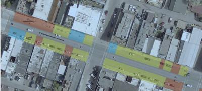 Pedestrianized Main Street