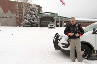 Law enforcement at Teton High School today