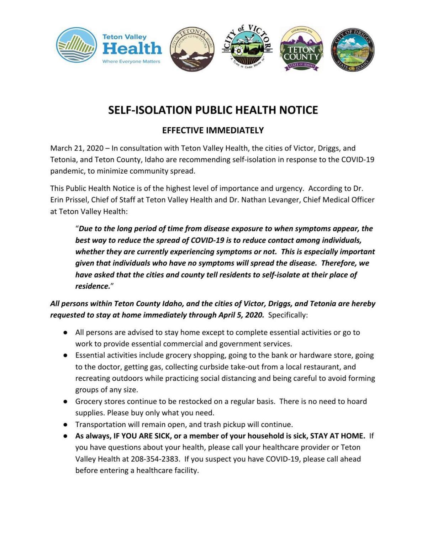 Self-Isolation Public Notice 3-21-2020.pdf