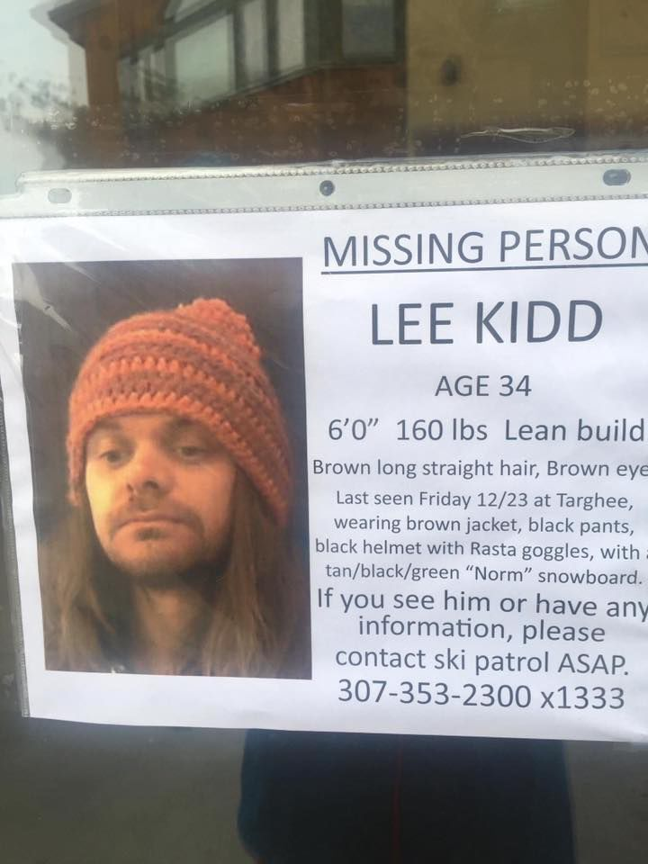 Search ongoing for missing snowboarder last spotted at Grand – Missing Person Flyer