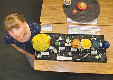 student at e. rivers solar system projects - photo #12