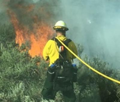 Fire near Dubois